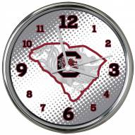 South Carolina Gamecocks State of Mind Chrome Clock