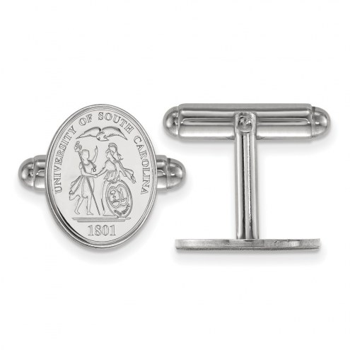 South Carolina Gamecocks Sterling Silver Cuff Links