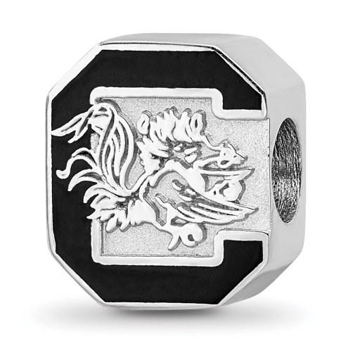 South Carolina Gamecocks Sterling Silver Enameled Bead