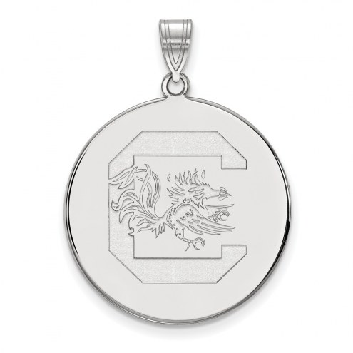 South Carolina Gamecocks Sterling Silver Extra Large Disc Pendant