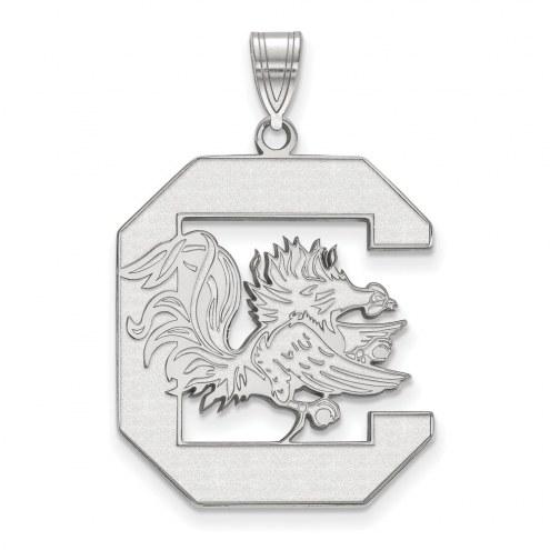South Carolina Gamecocks Sterling Silver Extra Large Pendant