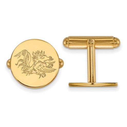 South Carolina Gamecocks Sterling Silver Gold Plated Cuff Links