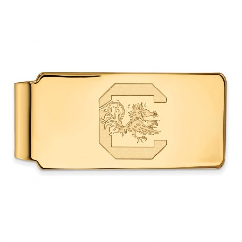 South Carolina Gamecocks Sterling Silver Gold Plated Money Clip