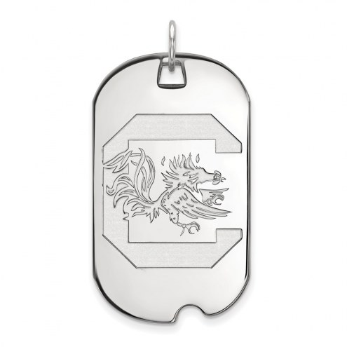 South Carolina Gamecocks Sterling Silver Large Dog Tag