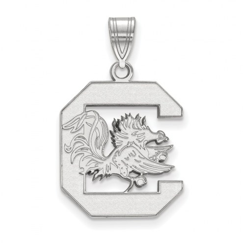 South Carolina Gamecocks Sterling Silver Large Pendant