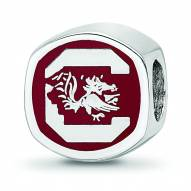 South Carolina Gamecocks Sterling Silver Logo Bead