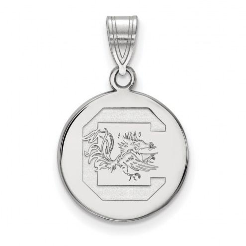 South Carolina Gamecocks Sterling Silver Medium Disc Pendant