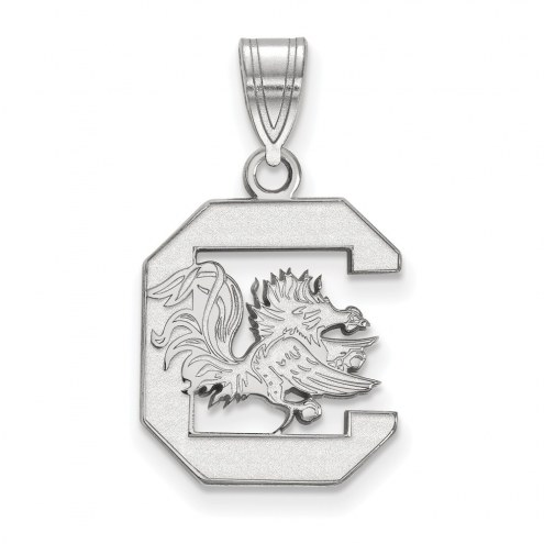 South Carolina Gamecocks Sterling Silver Medium Pendant