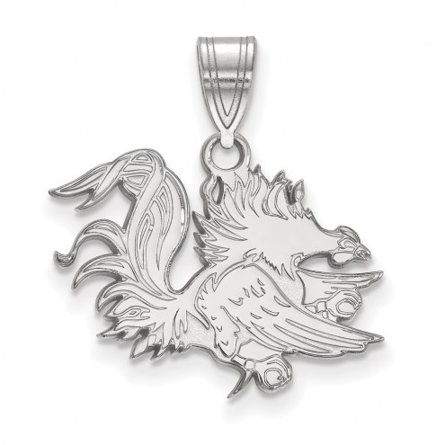 South Carolina Gamecocks Sterling Silver Medium Pendant