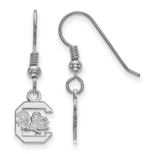 South Carolina Gamecocks Sterling Silver Extra Small Dangle Earrings