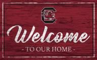 South Carolina Gamecocks Team Color Welcome Sign