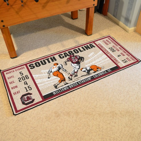 South Carolina Gamecocks Ticket Runner Rug