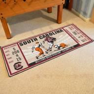 South Carolina Gamecocks Ticket Runner Rug