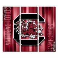 South Carolina Gamecocks Triptych Rush Canvas Wall Art