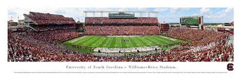 South Carolina Gamecocks Unframed Panorama