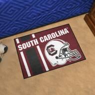 South Carolina Gamecocks Uniform Inspired Starter Rug