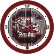 South Carolina Gamecocks Weathered Wall Clock