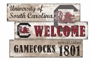 South Carolina Gamecocks Welcome 3 Plank Sign
