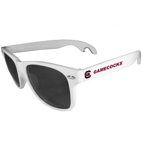 South Carolina Gamecocks White Beachfarer Bottle Opener Sunglasses