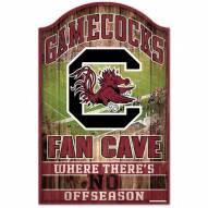 South Carolina Gamecocks Fan Cave Wood Sign