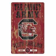 South Carolina Gamecocks Slogan Wood Sign