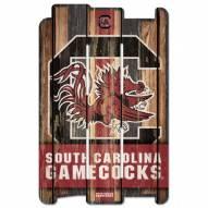 South Carolina Gamecocks Wood Fence Sign