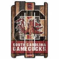 South Carolina Gamecocks Wood Fence Sign