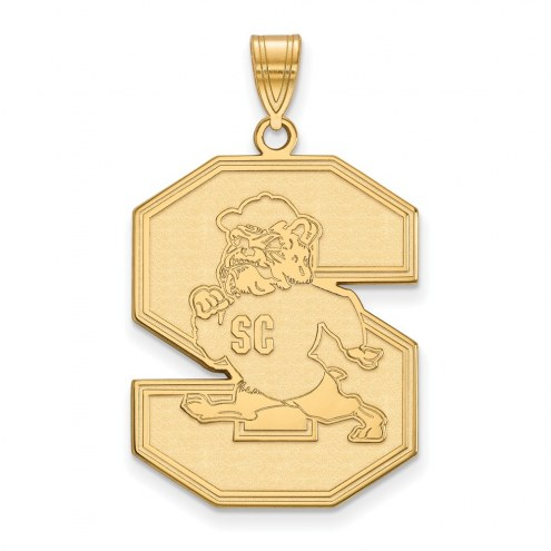 South Carolina State Bulldogs Sterling Silver Gold Plated Extra Large Pendant