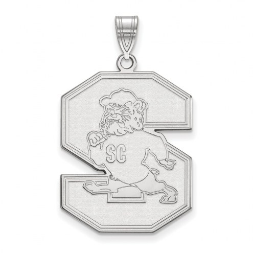 South Carolina State Bulldogs Sterling Silver Extra Large Pendant