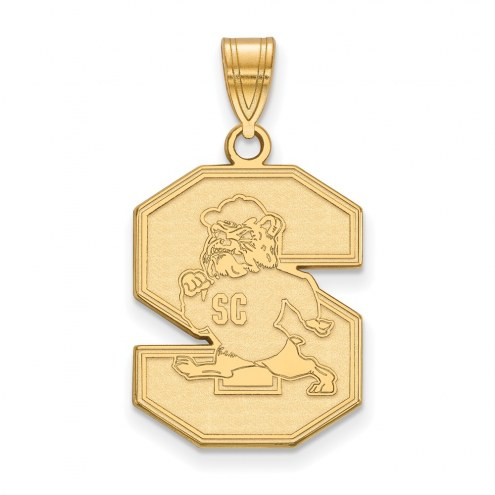 South Carolina State Bulldogs Sterling Silver Gold Plated Large Pendant
