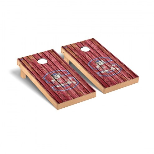 South Carolina State Bulldogs Weathered Cornhole Game Set