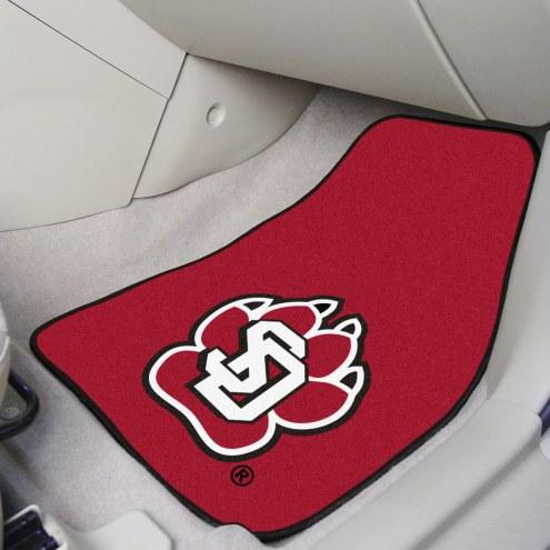 South Dakota Coyotes 2-Piece Carpet Car Mats