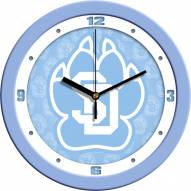 South Dakota Coyotes Baby Blue Wall Clock