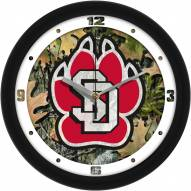 South Dakota Coyotes Camo Wall Clock