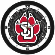 South Dakota Coyotes Carbon Fiber Wall Clock