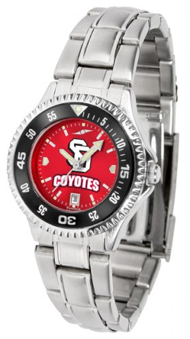 South Dakota Coyotes Competitor Steel AnoChrome Women's Watch - Color Bezel