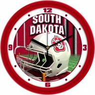 South Dakota Coyotes Football Helmet Wall Clock