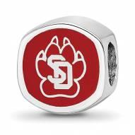 South Dakota Coyotes Sterling Silver Enameled Bead