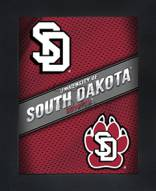 South Dakota Coyotes Framed 3D Wall Art