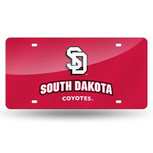 South Dakota Coyotes Laser Cut License Plate