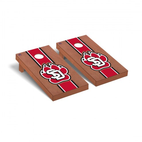 South Dakota Coyotes Rosewood Stained Cornhole Game Set