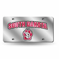 South Dakota Coyotes Silver Laser Cut License Plate