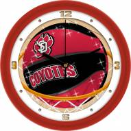 South Dakota Coyotes Slam Dunk Wall Clock