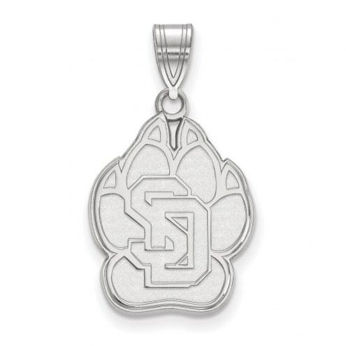 South Dakota Coyotes Sterling Silver Large Pendant