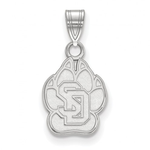 South Dakota Coyotes Sterling Silver Small Pendant