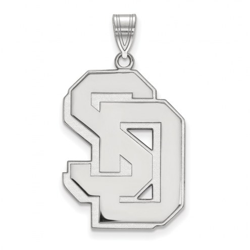 South Dakota Coyotes Sterling Silver Extra Large Pendant