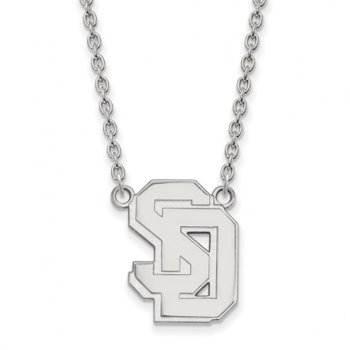 South Dakota Coyotes Sterling Silver Large Pendant Necklace