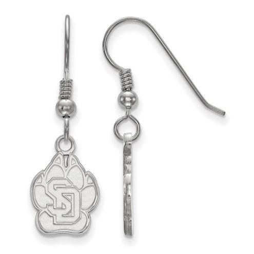 South Dakota Coyotes Sterling Silver Small Dangle Earrings