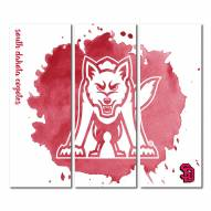 South Dakota Coyotes Triptych Watercolor Canvas Wall Art