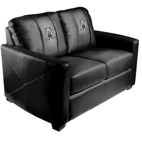 South Dakota Coyotes XZipit Silver Loveseat with Emblem Logo